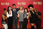 """Avoince Hoyles, Lena Hall, Bradley Dean, Andre Polec, Christina Bennington, Danielle Steers and Tyrick Wiltez Jones during Jim Steinman's """"Bat Out of Hell - The Musical"""" - Open Rehearsal at New York City Center on July 30, 2019 in New York City."""