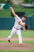 Springfield Cardinals relief pitcher Landon Beck (41) delivers a pitch during a game against the San Antonio Missions on June 4, 2017 at Hammons Field in Springfield, Missouri.  San Antonio defeated Springfield 6-1.  (Mike Janes/Four Seam Images)