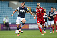 Shaun Hutchinson of Millwall and George Saville of Middlesbrough during Millwall vs Middlesbrough, Sky Bet EFL Championship Football at The Den on 8th July 2020