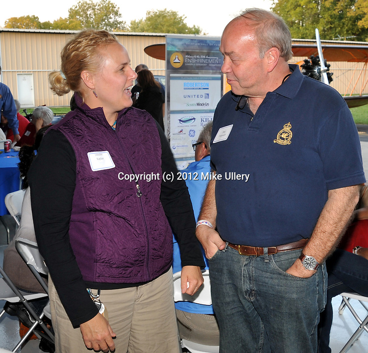 National Aviation Hall of Fame hanger party at Moraine Airpark on October 4, 2012, sponsored by NAHF trustee Alan Hoeweler.