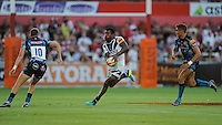 20130801 Copyright onEdition 2013 ©<br /> Free for editorial use image, please credit: onEdition.<br /> <br /> Tuvita Tamatawale of Bath Rugby 7s in action during the J.P. Morgan Asset Management Premiership Rugby 7s Series.<br /> <br /> The J.P. Morgan Asset Management Premiership Rugby 7s Series kicks off for the fourth season on Thursday 1st August with Pool A at Kingsholm, Gloucester with Pool B being played at Franklin's Gardens, Northampton on Friday 2nd August, Pool C at Allianz Park, Saracens home ground, on Saturday 3rd August and the Final being played at The Recreation Ground, Bath on Friday 9th August. The innovative tournament, which involves all 12 Premiership Rugby clubs, offers a fantastic platform for some of the country's finest young athletes to be exposed to the excitement, pressures and skills required to compete at an elite level.<br /> <br /> The 12 Premiership Rugby clubs are divided into three groups for the tournament, with the winner and runner up of each regional event going through to the Final. There are six games each evening, with each match consisting of two 7 minute halves with a 2 minute break at half time.<br /> <br /> For additional images please go to: http://www.w-w-i.com/jp_morgan_premiership_sevens/<br /> <br /> For press contacts contact: Beth Begg at brandRapport on D: +44 (0)20 7932 5813 M: +44 (0)7900 88231 E: BBegg@brand-rapport.com<br /> <br /> If you require a higher resolution image or you have any other onEdition photographic enquiries, please contact onEdition on 0845 900 2 900 or email info@onEdition.com<br /> This image is copyright the onEdition 2013©.<br /> <br /> This image has been supplied by onEdition and must be credited onEdition. The author is asserting his full Moral rights in relation to the publication of this image. Rights for onward transmission of any image or file is not granted or implied. Changing or deleting Copyright information is illegal as specified in the Copyright, Design and Patents Act 1988. If you are in any way unsure of your right to publish this image please contact onEdition