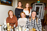 Enjoying the evening in Bella Bia on Friday.<br /> Seated l to r: Mary Joan O'Shea, Mary O'Connell and Bridget O'Shea.<br /> Standing l to r: Lorna O'Shea and Amie O'Connell.
