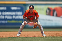 Bowie Baysox third baseman Patrick Dorrian (4) on defense against the Richmond Flying Squirrels at The Diamond on July 28, 2021, in Richmond Virginia. (Brian Westerholt/Four Seam Images)