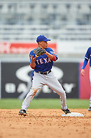 Camryn Williams (25) of Gaither High School in Odessa, Florida playing for the Texas Rangers scout team during the East Coast Pro Showcase on July 28, 2015 at George M. Steinbrenner Field in Tampa, Florida.  (Mike Janes/Four Seam Images)