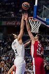 Real Madrid and Crvena Zvezda Telekom during Euroligue Basketball at Barclaycard Center in Madrid, October 22, 2015<br /> Felipe Reyes and Nastic.<br /> (ALTERPHOTOS/BorjaB.Hojas)