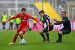 v.li.: Leon Dajaku (Bayern München, FCB, 7) am Ball, Dominik Schad (Kaiserslautern, 20) Marlon Ritter (Kaiserslautern, 7) beim Spiel in der 3. Liga, FC Bayern München II -1. FC Kaiserslautern.<br /> <br /> Foto © PIX-Sportfotos *** Foto ist honorarpflichtig! *** Auf Anfrage in hoeherer Qualitaet/Aufloesung. Belegexemplar erbeten. Veroeffentlichung ausschliesslich fuer journalistisch-publizistische Zwecke. For editorial use only. DFL regulations prohibit any use of photographs as image sequences and/or quasi-video.