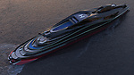 Pictured: This first-of-its-kind superyacht has been designed to look like a swan - and it's yours if you can stump up half a billion dollars.   Designers today revealed plans for the extraordinary swan-shaped 'megayacht' which is the length of nearly two football pitches.<br /> <br /> The would-be owner of the elegant 'Avanguardia' can steer their vessel from the 'head' of the swan, which acts as its control tower.   But, just like a swan can move its neck and head, the yacht's control tower can be moved and the 'head' is even detachable and transforms into an auxiliary 16-metre boat.   SEE OUR COPY FOR DETAILS<br /> <br /> Please byline: Lazzarini Design Studio/Solent News<br /> <br /> © Lazzarini Design Studio/Solent News & Photo Agency<br /> UK +44 (0) 2380 458800