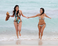 SMG_EXC_Kim_Kourtney Kardashian_BEACH_012308_02 - EXCLUSIVE COVERAGE<br /> <br /> NEW YORK - JANUARY 23, 2008: (EXCLUSIVE COVERAGE)  Cover girl and E Reality TV (Meet the Kardashians) Actress, Kim Kardashian along with sister Kourtney Kardashian go for a walk and a swim on Miami Beach.   (Photo By Storms Media Group) <br /> <br /> People:   Kim Kardashian;  Kourtney Kardashian<br /> <br /> Must call if interested<br /> Michael Storms<br /> Storms Media Group Inc.<br /> 305-632-3400 - Cell<br /> 305-513-5783 - Fax<br /> MikeStorm@aol.com
