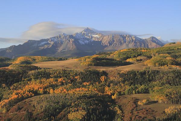 Wilson Peak (14,017 ft), autumn San Juan Mountains, Colorado.