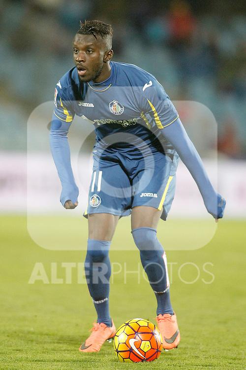 Getafe's Karim Yoda during La Liga match. February 14,2016. (ALTERPHOTOS/Acero)