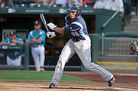 Jon Singleton (24) of the Corpus Christi Hooks swings at a pitch against the Springfield Cardinals at Hammons Field on August 19, 2012 in Springfield, Missouri.(Dennis Hubbard/Four Seam Images)