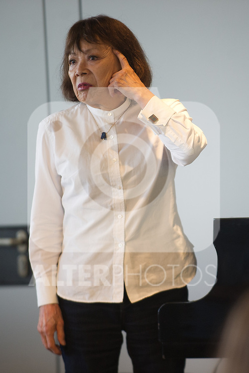 """The japanese pianist Toshiko Akiyoshi receives the """"Donostiako  Jazzaldia"""" Award and offers a piano concert in the Basque Culinary Center during the 49th Heineken Jazzaldia in San Sebastian to July 25 of 2014"""