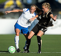 SANTA CLARA, CA--Stacy Bishop battles Leigh Ann Robinson for possession during the 1-0 loss to the Boston Breakers.  Sunday, July 19, 2009.