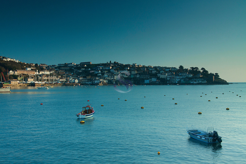 Polruan from Fowey at dusk, Cornwall