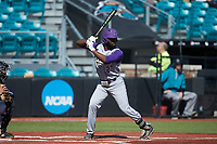 Immanuel Wilder (27) of the Western Carolina Catamounts at bat against the Kennesaw State Owls at Springs Brooks Stadium on February 22, 2020 in Conway, South Carolina. The Owls defeated the Catamounts 12-0.  (Brian Westerholt/Four Seam Images)