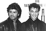 Wham 1985 George Michael and Andrew Ridgely.© Chris Walter.