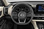 Car pictures of steering wheel view of a 2022 Nissan Pathfinder SL 5 Door SUV Steering Wheel