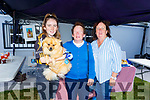 Katie Ryle with Sam the dog, Mary Casey (Ballyheigue) and Marie Ryle from Ardfert at the Annual Heritage Day at the Old Forge Churchill on Saturday.