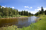 The Chewuch River runs high with spring snowmelt as it plunges from the Pasayten Wilderness in the North Cascade Mountains toward the Methow River at the village of Winthrop, where the two merge to drain throught the Methow Valley to the mighty Columbia at Lake Pateros.