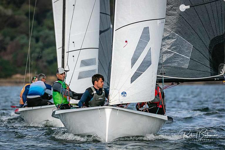 Finalist Sean Craig of the Laser Radials sailing with Tadhg Donnelly Photo: Bob Bateman