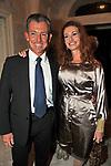ADOLFO PANFILI CON VALERIA MANGANI<br /> CHARITY DINNER VILLA LETIZIA 2009 ORGANIZZATO DA EMMA BONINO