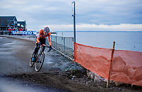 Mathieu Van Der Poel (NED/Correndon-Circus) soloing away from the rest<br /> <br /> Men's Elite race <br /> <br /> UCI 2019 Cyclocross World Championships<br /> Bogense / Denmark<br /> <br /> <br /> ©kramon