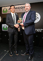 Pictured: Jack Cork receives an award Wednesday 11 May 2016<br /> Re: Awards Dinner 2016, at the Liberty Stadium, south Wales, UK.