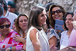 Queen Letizia of Spain during the visit to Arganda del Rey because of the floods that happened in August and September. September 27, 2019. (ALTERPHOTOS/ Francis Gonzalez)