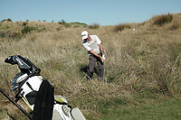 Mark Brown plays out of the rough to the 7th green. Day two of the Renaissance Brewing NZ Stroke Play Championship at Paraparaumu Beach Golf Club in Paraparaumu, New Zealand on Friday, 19 March 2021. Photo: Dave Lintott / lintottphoto.co.nz