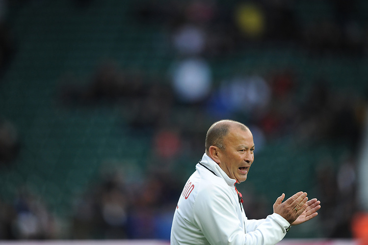 Eddie Jones, England Head Coach, during the Old Mutual Wealth Series match between England and Argentina at Twickenham Stadium on Saturday 11th November 2017 (Photo by Rob Munro/Stewart Communications)