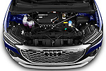 Car Stock 2022 Audi Q4-e-tron EV-S-Line 5 Door SUV Engine  high angle detail view
