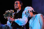 UN VIOLON SUR LE TOIT..Auteur : STEIN Joseph..Adaptateur : LAPORTE Stephane..Mise en scene : DESCHAUX Jeanne..Decor : TAPIERMAN Serge..Avec :..FILOU Charlotte:HODEL 2eme fille..LEVY Kevin:Mr KAMZOIL le tailleur..Lieu : Le Palace..Ville : Paris..Le : 18 02 2010..© Laurent PAILLIER / photosdedanse.com..All rights reserved