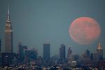 Blue Moon rises over New York