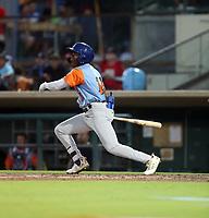Jameson Hannah participates in the 2019 California League All-Star Game at San Manuel Stadium on June 18, 2019 in San Bernardino, California (Bill Mitchell)