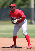April 1, 2010:  First Baseman Jonathan Singleton of the Philadelphia Phillies organization during Spring Training at the Carpenter Complex in Clearwater, FL.  Photo By Mike Janes/Four Seam Images
