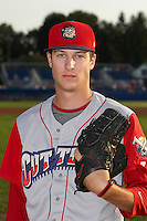 Williamsport Crosscutters pitcher Jordan Guth #30 poses for a photo before a NY-Penn League game against the Batavia Muckdogs at Dwyer Stadium on August 25, 2012 in Batavia, New York.  Batavia defeated Williamsport 6-5.  (Mike Janes/Four Seam Images)