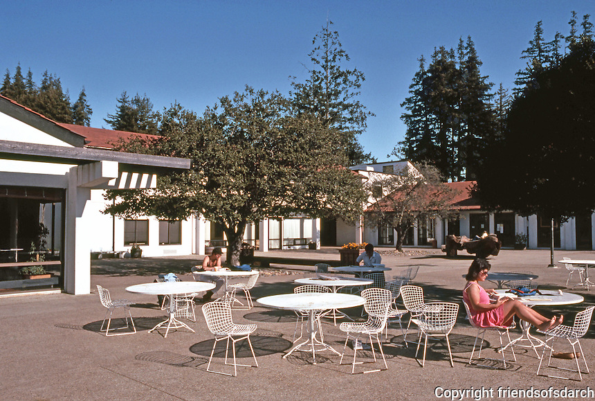 Santa Cruz CA: UCSC--Stevenson College, Dining Terrace.   Photo '83.