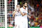 Sevilla FC's Pablo Sarabia (l) and Vicente Iborra during Supercup of Spain 2nd match.August 17,2016. (ALTERPHOTOS/Acero)