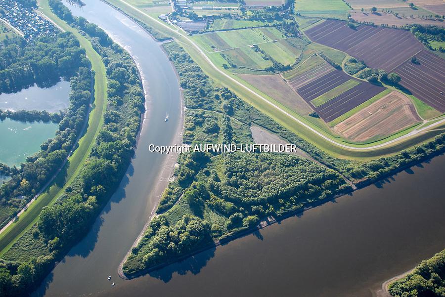 Spadenländer Spitze: EUROPA, DEUTSCHLAND, HAMBURG, BERGEDORF, (EUROPE, GERMANY),30.08.2020: Spadenländer Spitze, Zufluss der Dove Elbe in den Hauptstrom