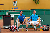 2013-08-17, Netherlands, Raalte,  TV Ramele, Tennis, NRTK 2013, National Ranking Tennis Champ,  David de Goede(L) and Bart de Gier<br />