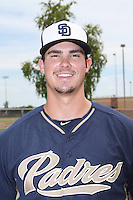 Jacob Nix (24) of the AZL Padres poses for a photo before a game against the AZL Rangers at the San Diego Padres Spring Training Complex on July 5, 2015 in Peoria, Arizona. Padres defeated Rangers, 9-2. (Larry Goren/Four Seam Images)