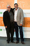Juan Sanz and Miguel Angel Coso poses for the photographers during 2015 Theater Ceres Awards photocall at Merida, Spain, August 27, 2015. <br /> (ALTERPHOTOS/BorjaB.Hojas)