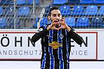 Waldhofs Rafael Garcia (Nr.16) bejubelt seinen Treffer zum 1:0 beim Spiel in der 3. Liga, SV Waldhof Mannheim - FC Ingolstadt.<br /> <br /> Foto © PIX-Sportfotos *** Foto ist honorarpflichtig! *** Auf Anfrage in hoeherer Qualitaet/Aufloesung. Belegexemplar erbeten. Veroeffentlichung ausschliesslich fuer journalistisch-publizistische Zwecke. For editorial use only. DFL regulations prohibit any use of photographs as image sequences and/or quasi-video.