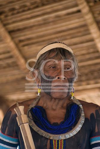 Pará State, Brazil. Aldeia Kokraimoro (Kayapo). Pidjo-y Kayapo.