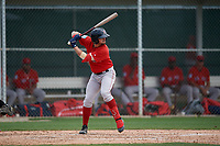 Boston Red Sox Nicholas Northcut (24) bats during a Minor League Spring Training game against the Baltimore Orioles on March 20, 2019 at the Buck O'Neil Baseball Complex in Sarasota, Florida.  (Mike Janes/Four Seam Images)