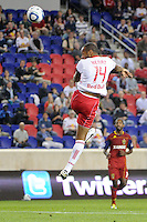 Thierry Henry (14) of the New York Red Bulls. Real Salt Lake defeated the New York Red Bulls 3-1 during a Major League Soccer (MLS) match at Red Bull Arena in Harrison, NJ, on September 21, 2011.