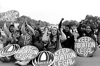 Mobilize for Women's Lives Demonstration for reproductive rights at the Lincoln Memorial November 1989 Washington D.C.