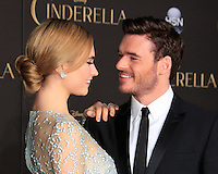 """LOS ANGELES - MAR 1:  Lily James, Richard Madden at the """"Cinderella"""" World Premiere at the El Capitan Theater on March 1, 2015 in Los Angeles, CA"""