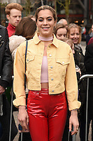 Chelsea Leyland<br /> arrives for the Topshop Unique AW17 show as part of London Fashion Week AW17 at Tate Modern, London.<br /> <br /> <br /> ©Ash Knotek  D3232  19/02/2017
