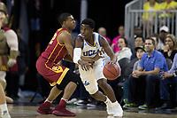 LAS VEGAS, NV - March 9, 2017: UCLA Bruins Men's Basketball team vs. the USC Trojans.  Final Score: UCLA Bruins 76, USC Trojans 74